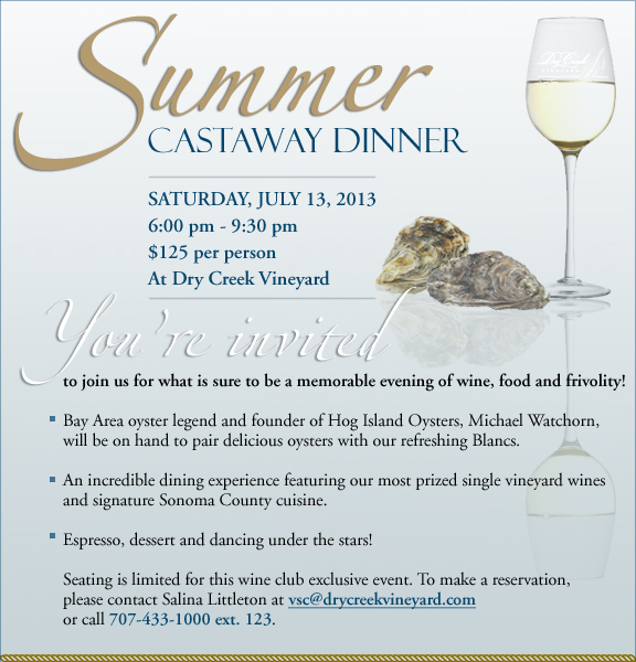 Summer Cast Away Dinner